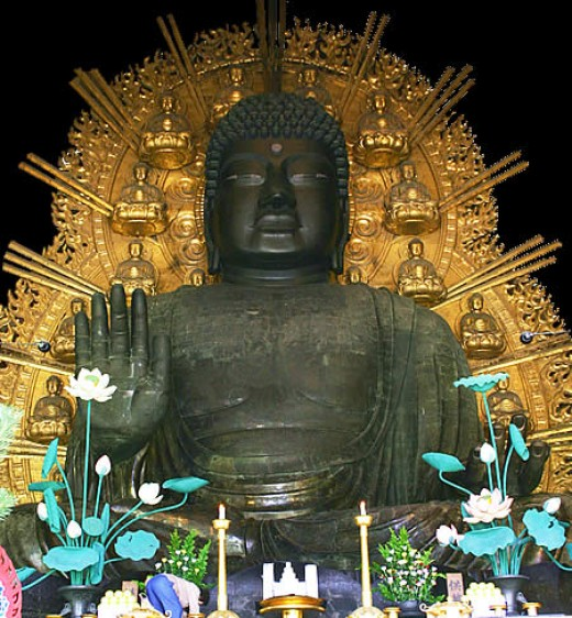 The Great Daibutsu That Is Housed At Todai-ji.