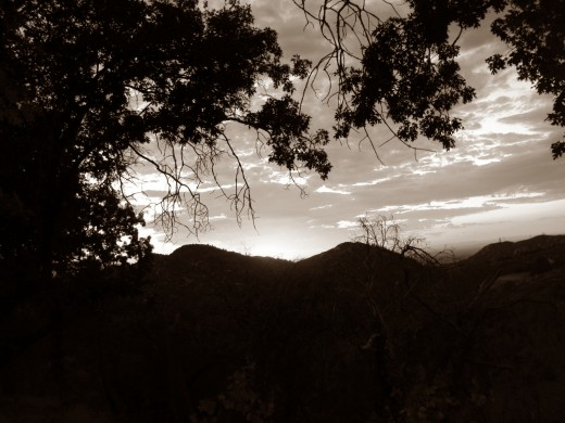 Here is a picture I created of a sunset in the San Bernardino Mountains.