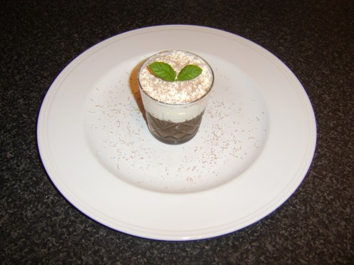 Coffee and Mint Dessert