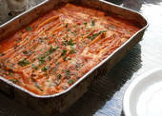 Lasagna is a great economical meal for large family gatherings
