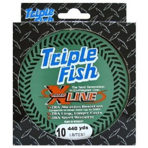 Triple Fish Xrated Co-Polymer Line Size: Bulk Spool; Test: 4 pound