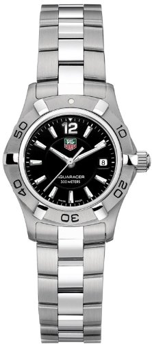 Top Luxury in 2011 Womens 'Aquaracer' from Tag Heuer with stainless steel link bracelet
