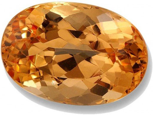 Orange Yellow Oval Cut Topaz
