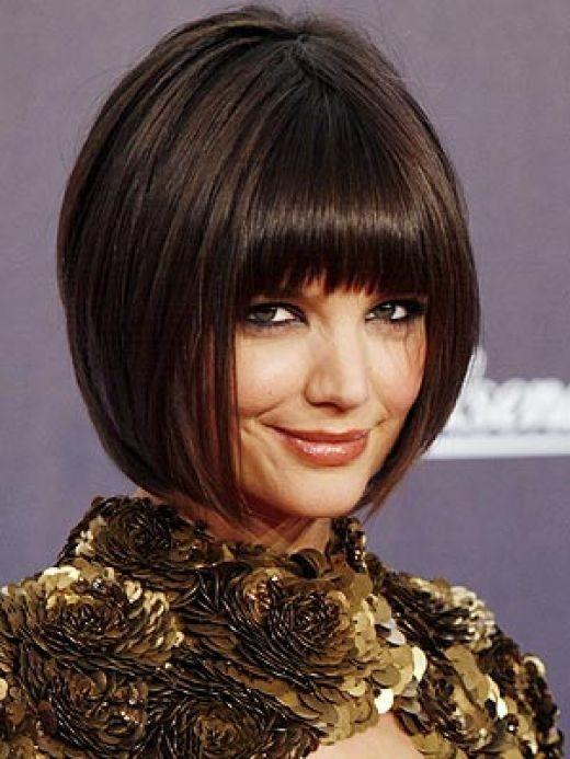 Katie Holmes Inverted Bob Haircuts