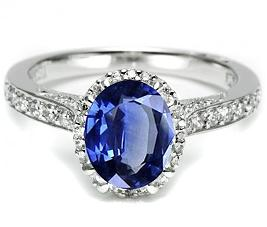The Royal wedding ring has a Sri Lankan blue sapphire