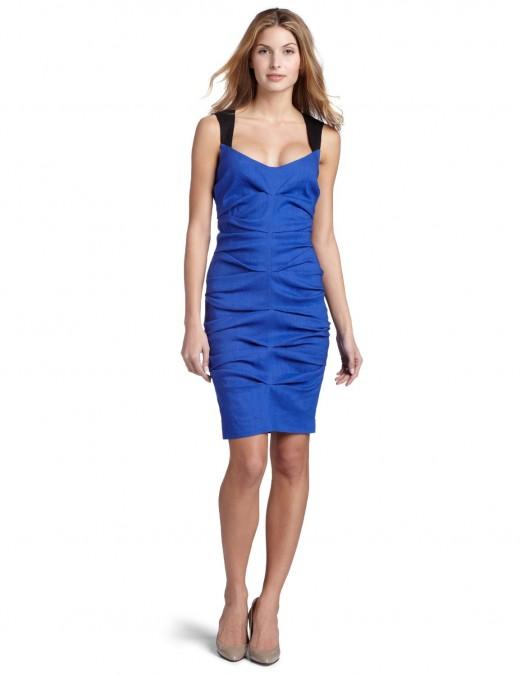 Nicole Miller Tuck Dress