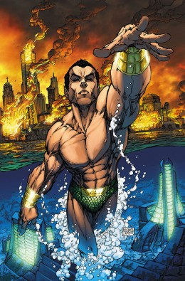 Cover art for Sub-Mariner #1 by Michael Turner (2007).
