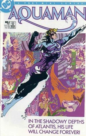 Deep blue camouflage custome. Aquaman (Vol.2) #1. Feb. 1986 by Craig Hamilton.