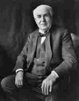 Thomas Edison.  Stolid scientist who lacked Tesla's brilliant mind
