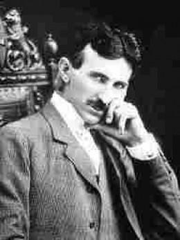 Nikola Tesla a brooding genius.