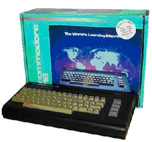 A Commodore 16 complete with box
