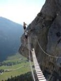 Wire bridges are often the highlights of many via ferrata routes