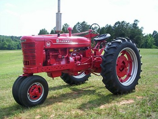 """Good ol' tractor...so faithful and true...and so gloriously bright red."" MPM"