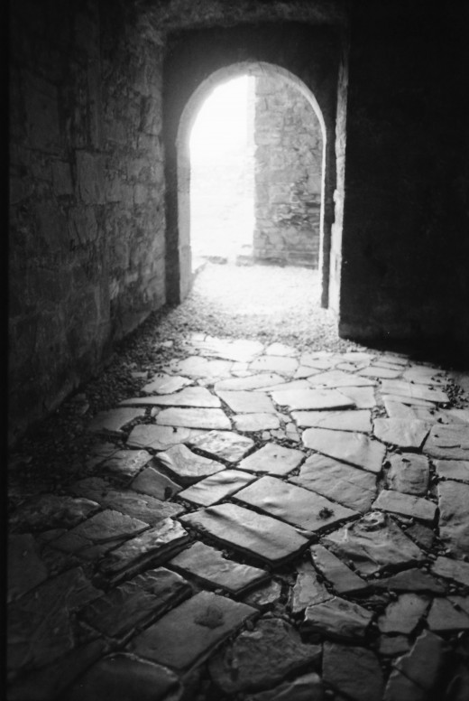 Exit from south cloister. Manual 35mm SLR and scanned.