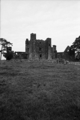 Front approach, slightly to the left. Manual 35mm SLR and scanned.