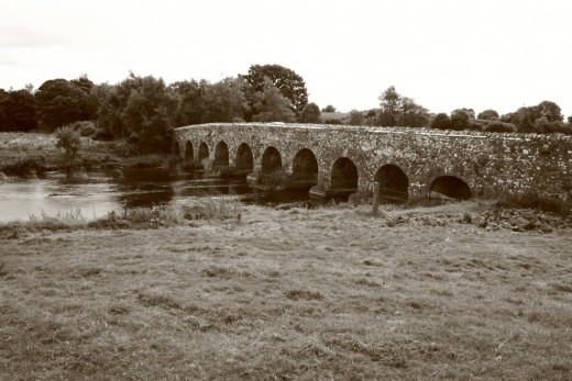 Bridge over the River Boyne at Bective Abbey. Canon EOS DSLR.