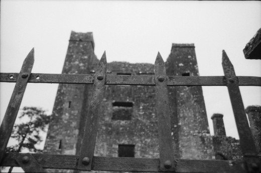 Bective Abbey entrance gate and tower. Manual 35mm SLR.