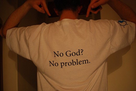 Atheist Society t-shirt/slogan