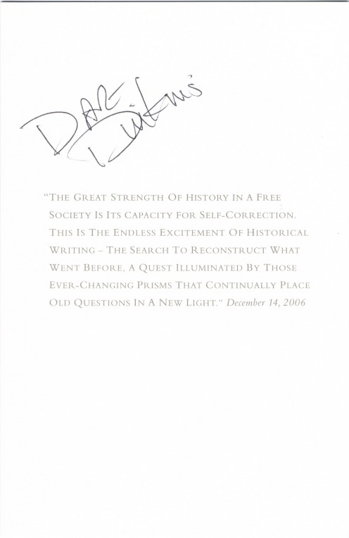 David Dinkins autograph. He was Mayor of New York City from 1990 through 1993, and the only African-American elected to that office.