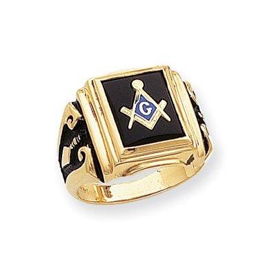 14k Men's Masonic Ring