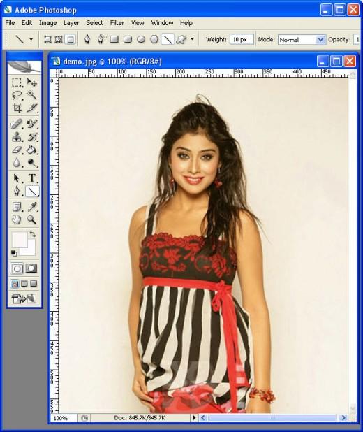 Passport photo demo in Photoshop