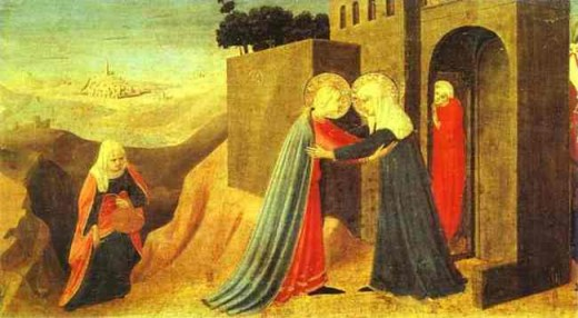 Fra Angelico's The Visitation, 1432 (tempera on panel)