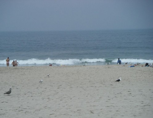The beach at Seaside Heights, New Jersey.