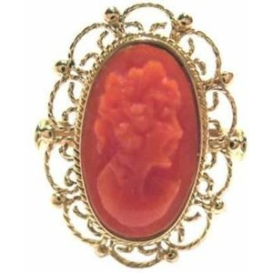 Master Carved Coral Ring