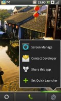 The right button encourages you to share this new launcher home replacement