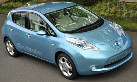 The 2011 Nissan LEAF electric car