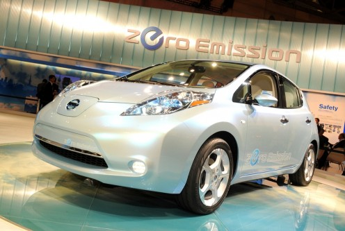 Sleek and emissions free:  the 2011 Nissan LEAF