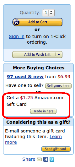 Amazon Trade In Button