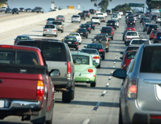 As roads become heavily populated, exhaust fumes increase pollutants into the atmosphere