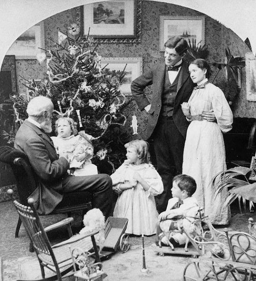 Grandpa's visit Christmas morning. Griffith & Griffith, c1897.