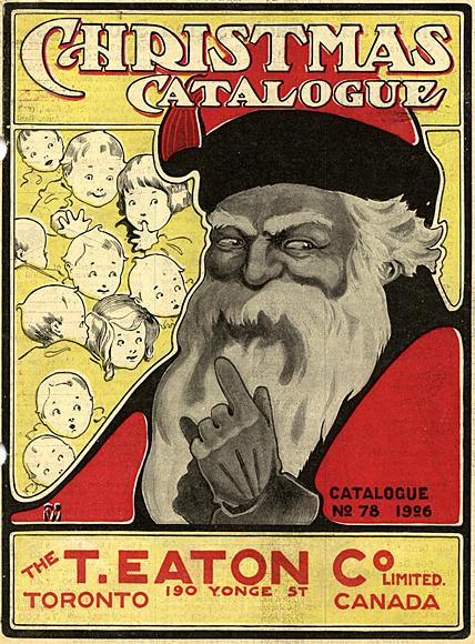 Cover of the Eaton's department store Christmas catalogue for 1906, showing an image of Santa Claus.