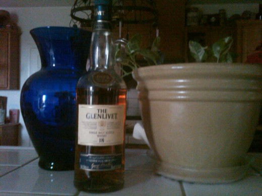 My bottle of 18-year-old Glenlivet.
