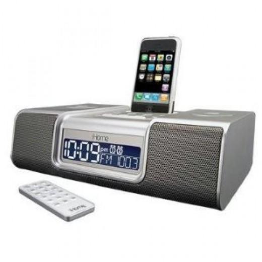 iHome iP9 Speaker Dock with Radio in silver