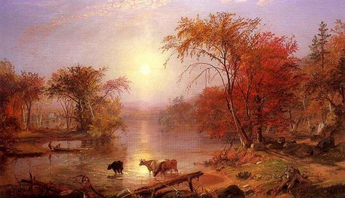 Indian Summer on the Hudson River, painted in 1861 by Albert Nierstadt. Clarkstown is convenient to the river and this awesome view.