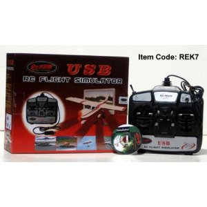 USB Flight Simulator 6 Channel Remote Control Training Com