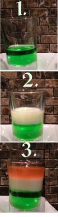 3 Step Build of Irish Flag Shot