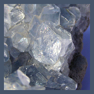 Celestite photographed by Karin Lumpe. Image courtesy of Pure Link Holistics