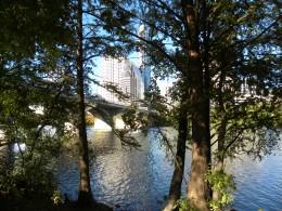 Tree shaded trails Lady Bird Lake Austin TX