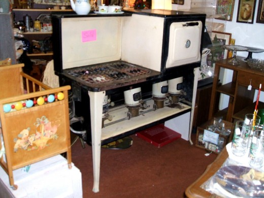 old antique kitchen stove