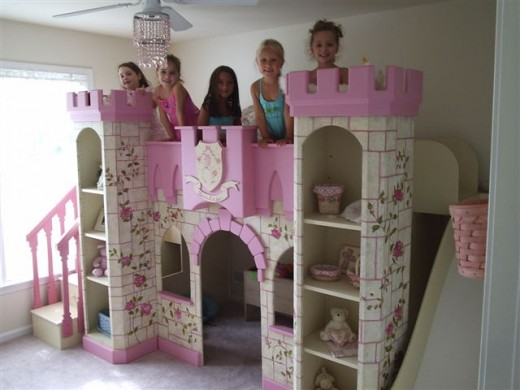 Unique theme beds for girls promise the sweetest dreams ever - Unique girls bunk beds ...