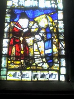 stained glass in st anne's chapel