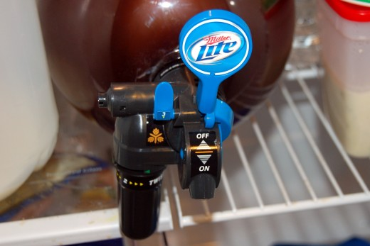 Chris and I finally got around to trying out the Miller Lite Mini Keg.  Nifty idea, but takes up a bit too much space in our fridge.