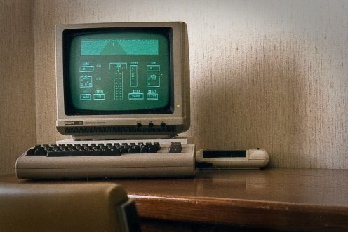 The Commodore 64. One of the first affordable personal computers on the market.