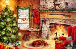 Painting: Christmas at Home