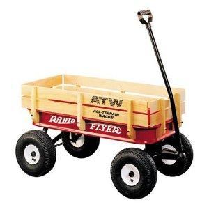 Radio Flyer All-Terrain Steel and Wood Wagon