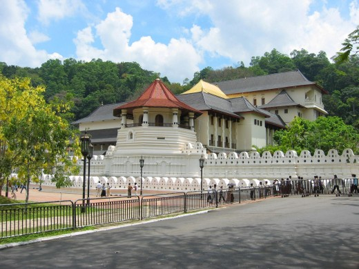 Temple of tooth Relic, world heritage site in Kandy